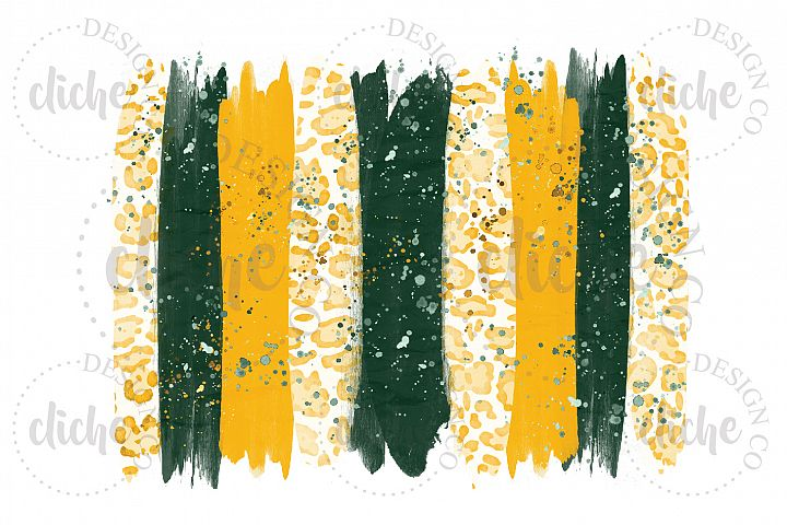Green Yellow Paint Stroke Sublimation Design Background