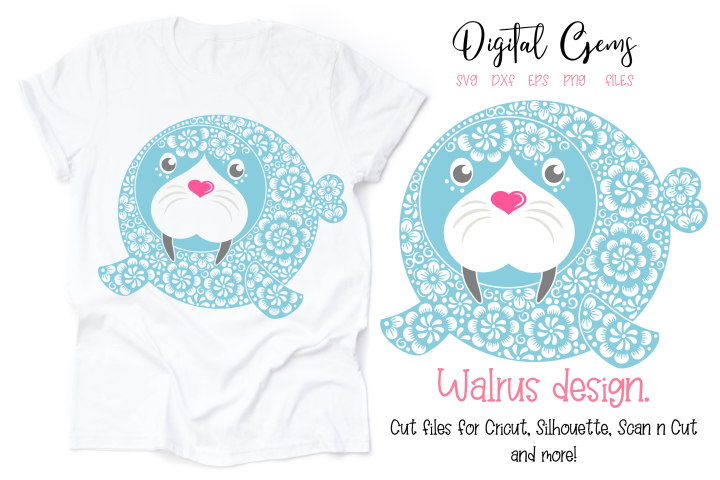Walrus SVG / DXF / EPS / PNG files