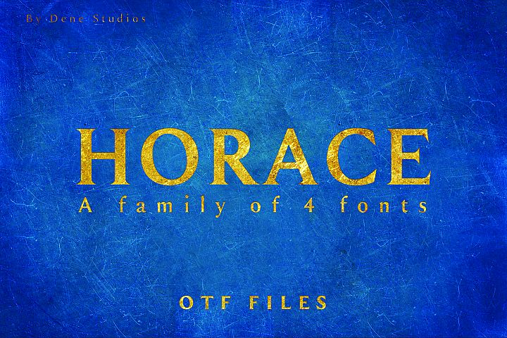 HORACE, A Strong Serif Type