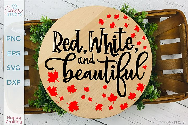 Red, White, and Beautiful - A Canadian Pride Design