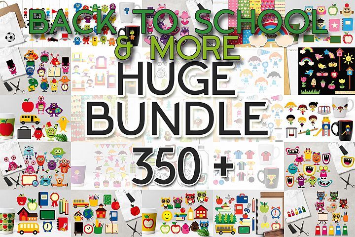 Back To School Clip Art Huge Bundle - Over 350 Graphics