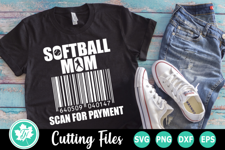 Softball Mom Scan for Payment - A Sports SVG Cut File
