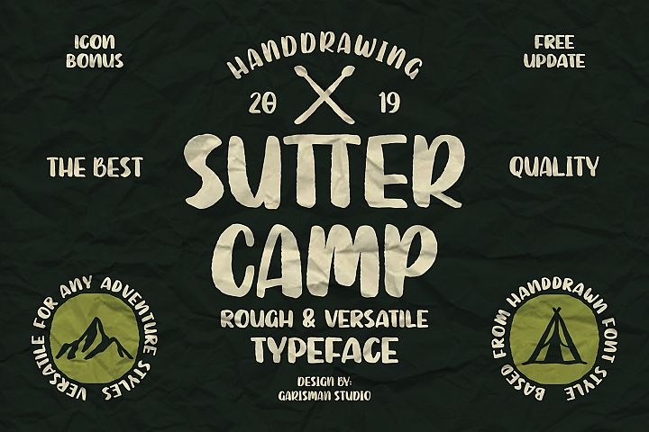 SUTTER CAMP - Adventure Typeface