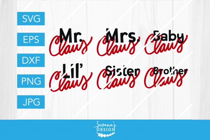 Santa Claus Family SVG Bundle