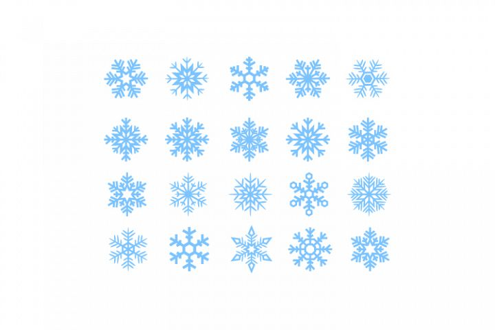 Snowflakes SVG-Digital Cutting File,Silhouette File