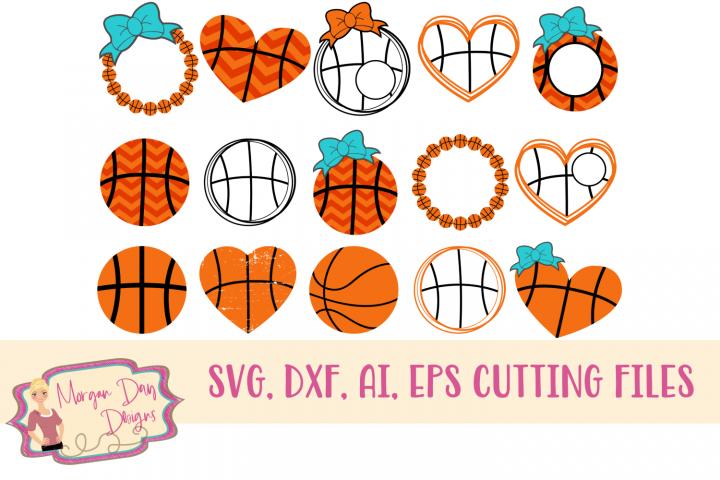 Basketball Bundle SVG, DXF, AI, EPS