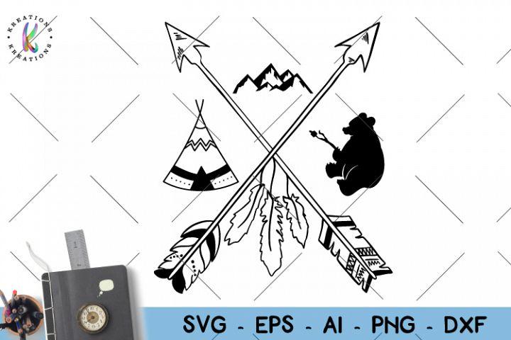 Camping svg Arrows