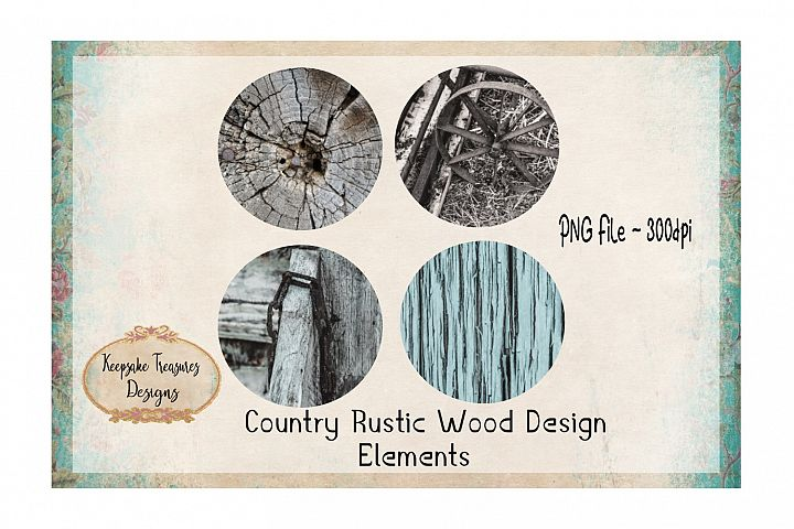 Country Rustic Wood Design Elements