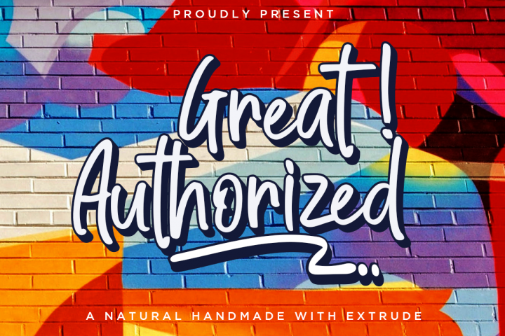 Great Authorized / Handmade Font