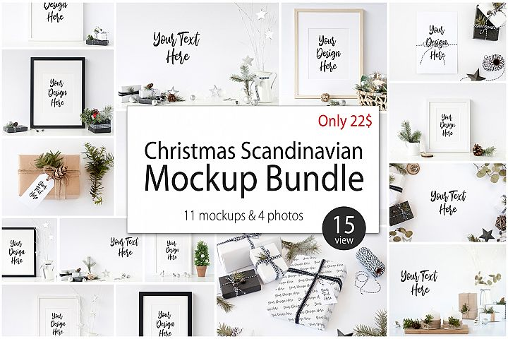 Christmas Scandinavian Mockup Bundle
