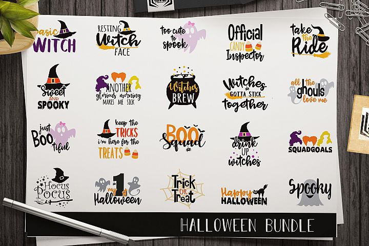Halloween SVG bundle - Halloween cut files - Halloween decor