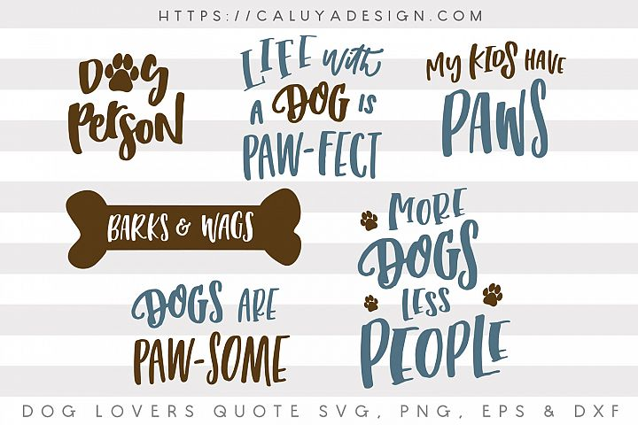 Dog Lovers SVG Cut File Bundle