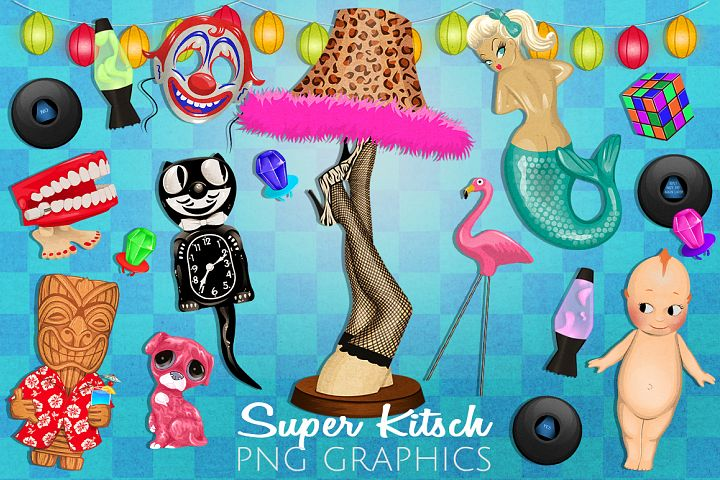 Super Kitsch Retro Graphics Set