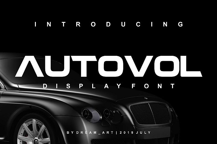 AUTOVOL DISPLAY FONT