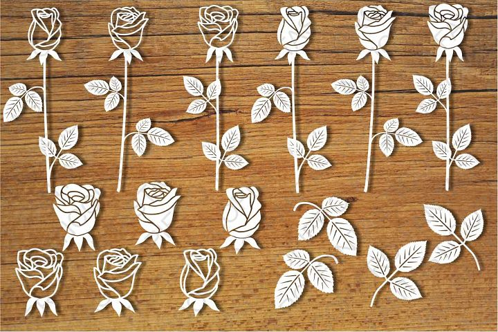 Roses, Rosebuds SVG files for Silhouette and Cricut.