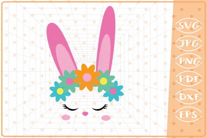 Easter Bunny Face, Cutting Files, Easter SVG