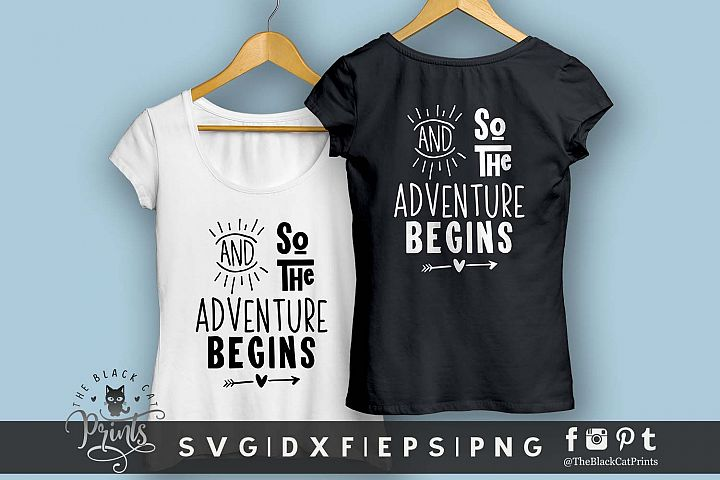 And So The Adventure Begins SVG DXF EPS PNG Newborn svg