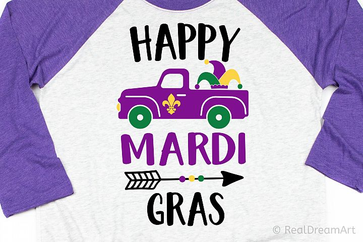 Happy Mardi Gras SVG, DXF, PNG, EPS