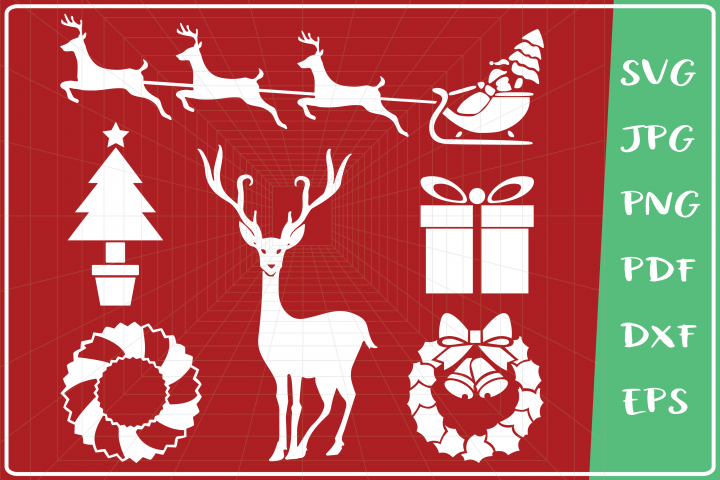 Christmas Elements svg, Christmas Ornaments svg, Bundle svg
