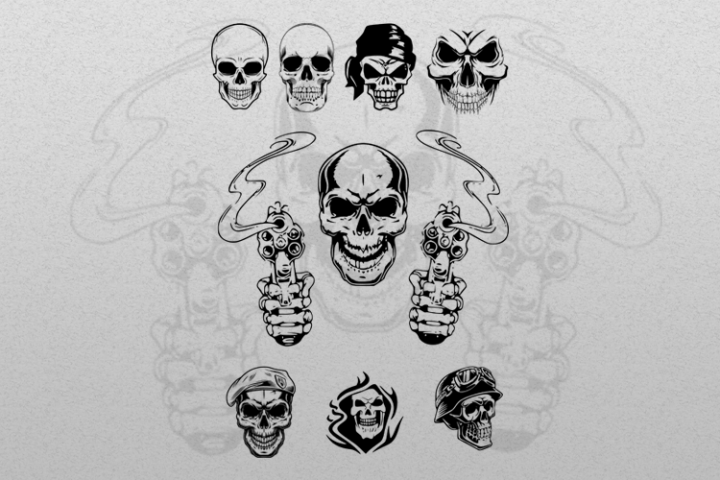 Skull ilustration, suitable for cutting SVG, EPS, PNG