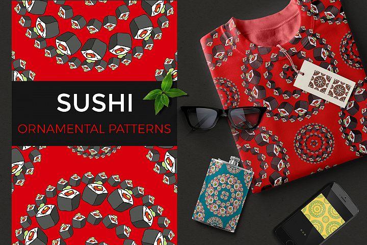 Sushi ornamental patterns