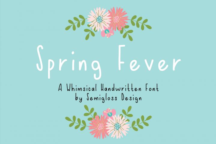 Spring Fever - A Handwritten Font