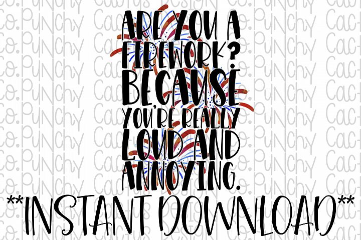 Are You a Firework? Digital Download