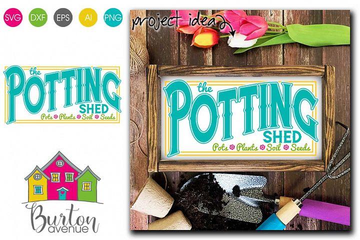 The Potting Shed SVG file for Spring