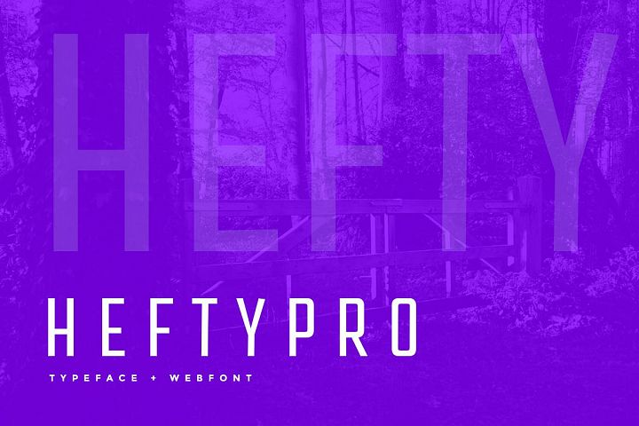 Hefty Pro Display Typeface WebFont example