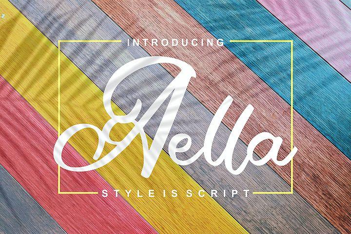 Aella | Style Is Script Font