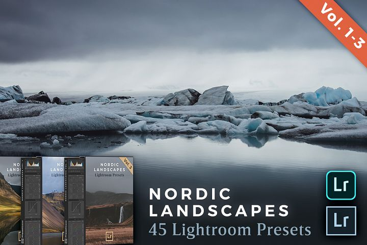 Nordic Landscapes Vol. 1-3 Bundle 45 Lightroom Presets