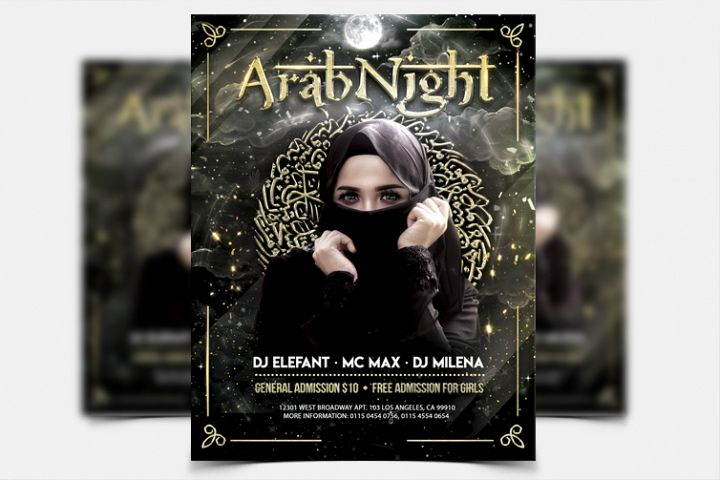 Arab Night - PSD Flyer Template