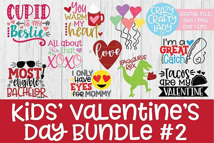 Kids Valentines Day SVG DXF EPS PNG Cut File Bundle 2
