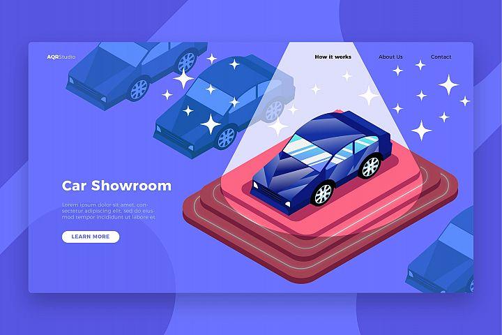 Car Showroom - Banner & Landing Page