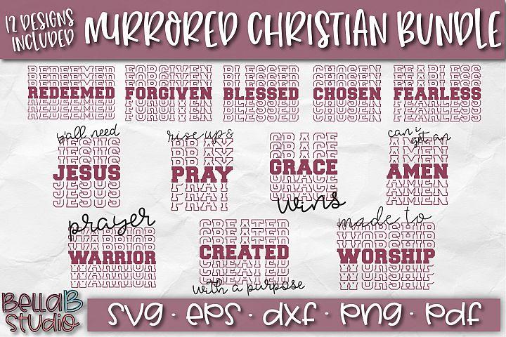 Christian Quotes SVG Bundle, Christian SVG Cut Files, Mirror