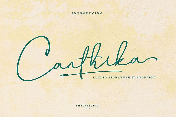 Canthika Luxury Signature Typography