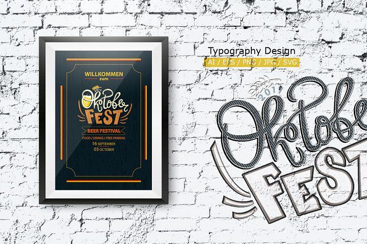 Oktoberfest. Typography.