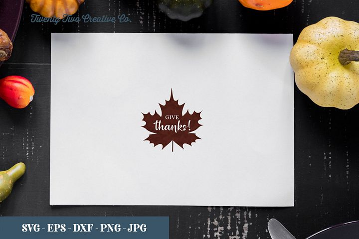 Give Thanks - SVG, EPS, DXF, PNG, JPG
