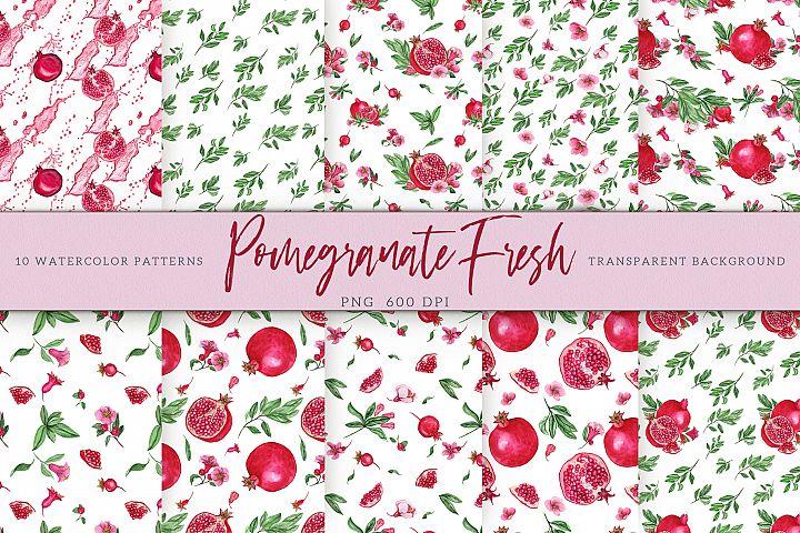 Pomegranate Fresh. Patterns Set