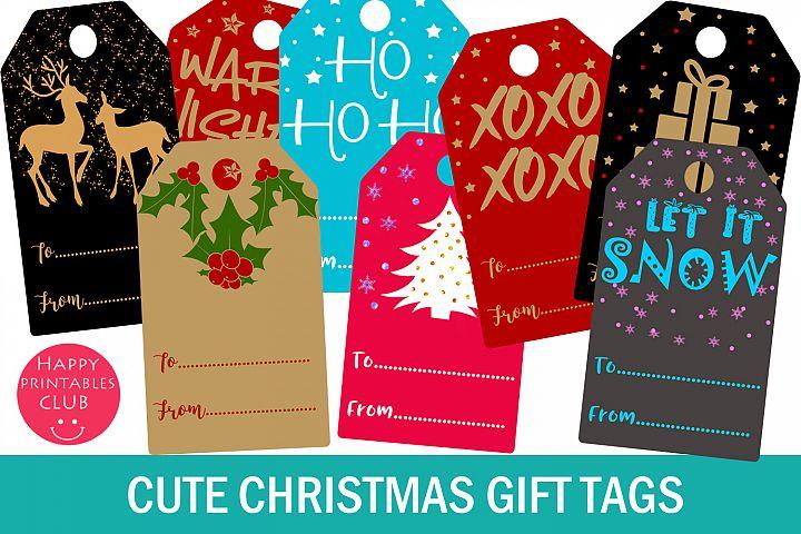 Christmas Gift Tags- Printable Christmas Gift Tags- Gift Tag