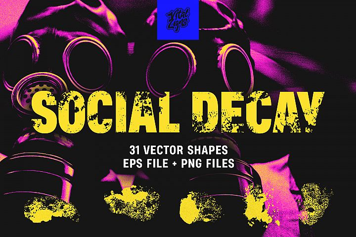 Social Decay - Vector Shape Pack
