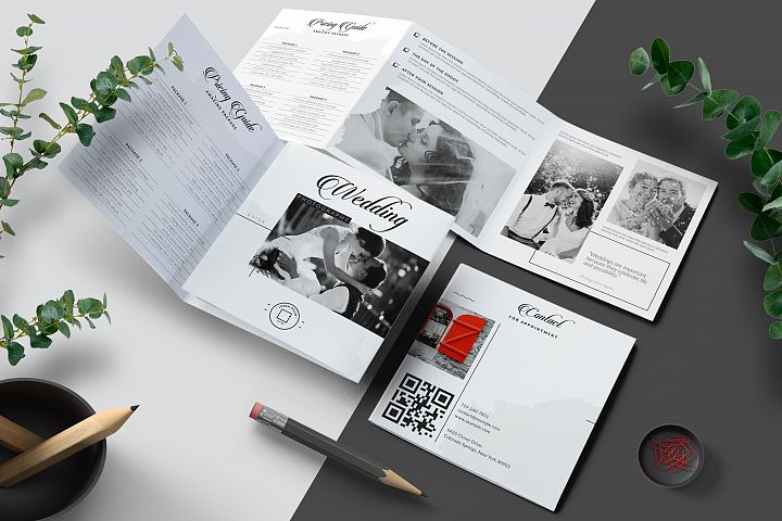 Wedding Photography Pricing Guides Tri-Fold Brochure Layout