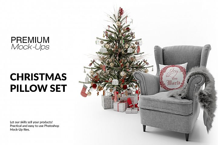 Christmas Throw Pillow Set