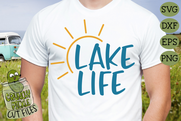 Lake Life Sun 2 SVG File