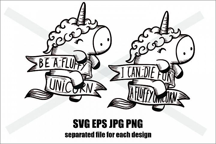 Unicorn Set A - SVG-EPS-JPG-PNG