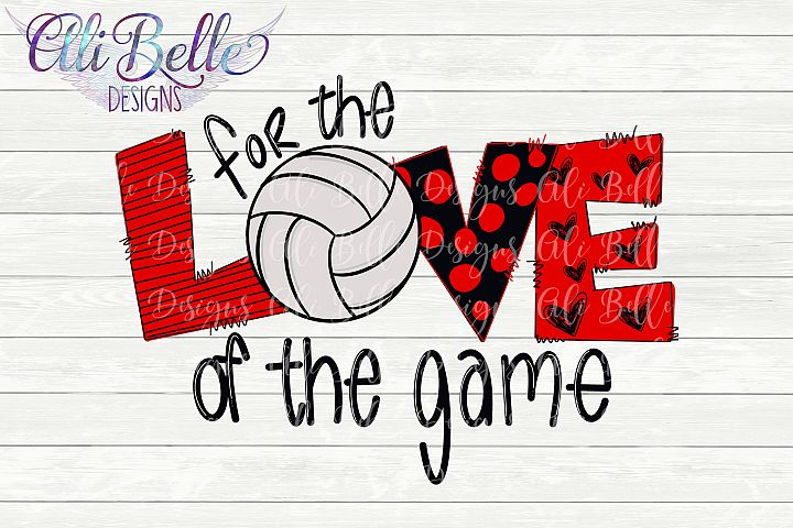 Sublimation For the Love of the Game Volleyball