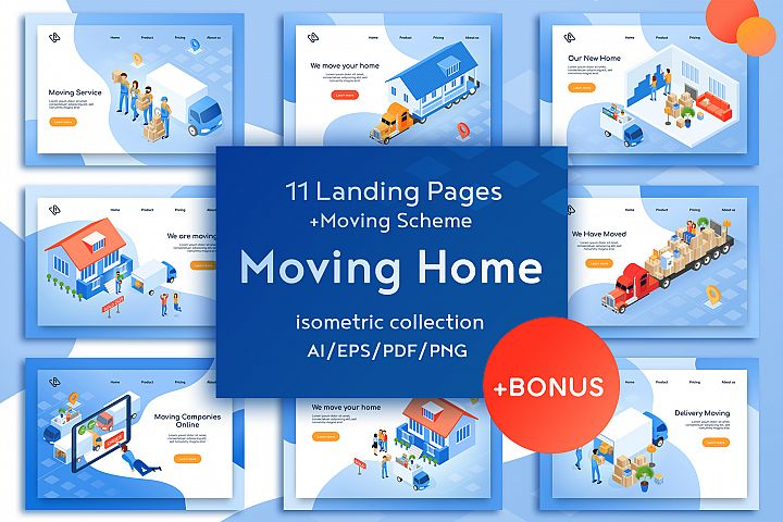 Moving Home Isometric Design