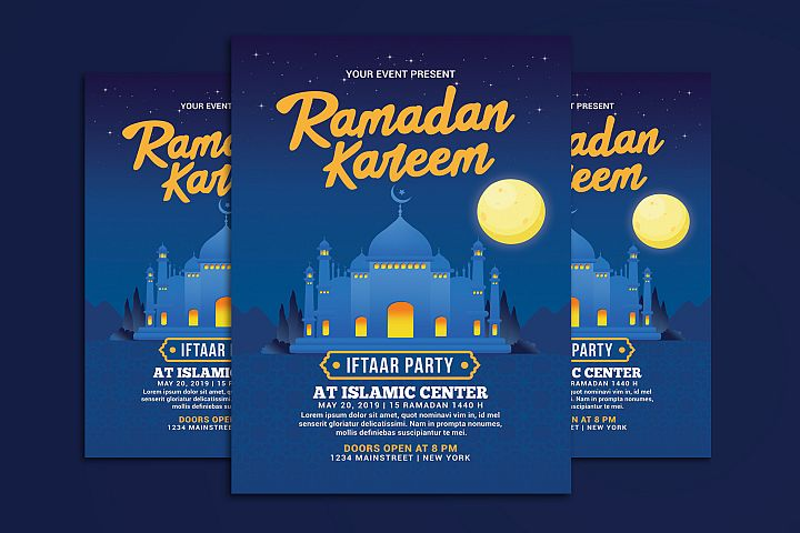 Ramadan Kareem Iftaar Party Flyer