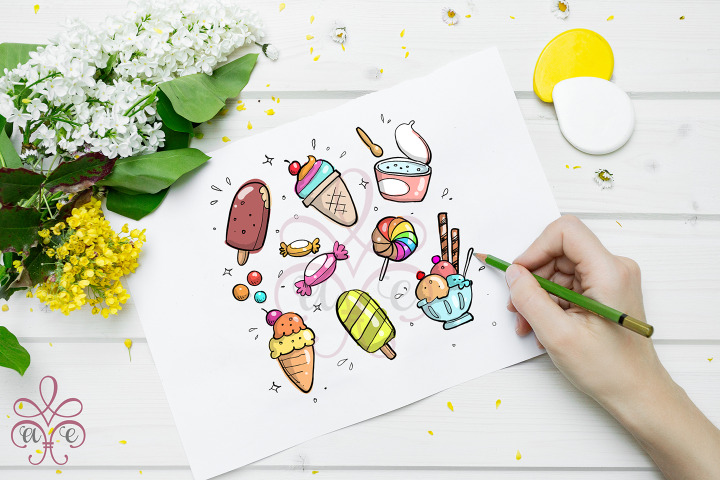 Ice Cream Clipart Illustrations