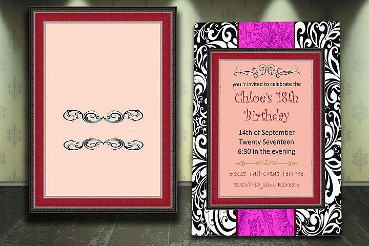 Birthday invitation card